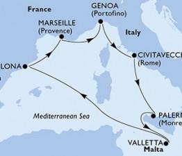 7 Noches por España, Francia, Italia, Malta a bordo del MSC Meraviglia